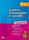 Sciences économiques et sociales ; 1ère ES - Couverture - Format classique