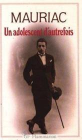 Un Adolescent D'Autrefois - Couverture - Format classique