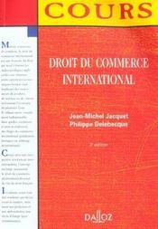 Droit Du Commerce International - 3e Ed. - Intérieur - Format classique
