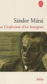 Les confessions d'un bourgeois - Couverture - Format classique