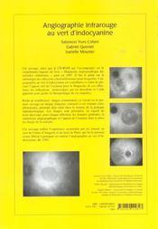 Angiographie infrarouge au vert d'indocyanine - 4ème de couverture - Format classique