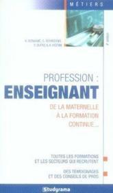 Profession : enseignant - Couverture - Format classique