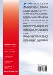 La sécurité du ppl ; méprises et maîtrise en aéronautique - 4ème de couverture - Format classique