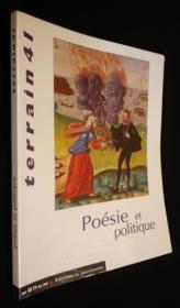 Terrain N.41 ; Poésie Et Politique - Couverture - Format classique