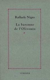 Baronne De L'Olivento - Couverture - Format classique