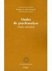 Ondes de psychanalyse - Couverture - Format classique