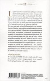 Le mariage et l'amour ; en France, de la Renaissance à la Révolution - 4ème de couverture - Format classique