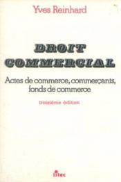 Droit commercial - Couverture - Format classique