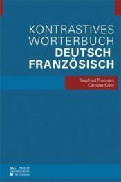 Kontrastives wörterbuch deutsch-französisch - Couverture - Format classique