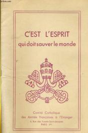 C'Est L'Esprit Qui Doit Sauver Le Monde - Couverture - Format classique