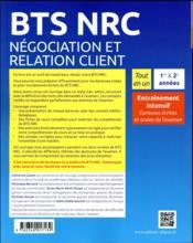 Tout-en-un BTS ; BTS négociation relation clients ; entraînement intensif aux épreuves écrites et orales - 4ème de couverture - Format classique