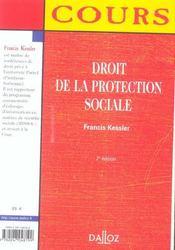 Droit De La Protection Sociale - 4ème de couverture - Format classique