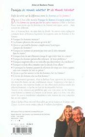 Pourquoi les hommes mentent et les femmes pleurent, edition 4e anniversaire - 4ème de couverture - Format classique