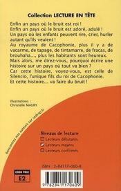 Le Roman Vive Le Bruit - Lecture En Tete - Cm1, Cm2 - 4ème de couverture - Format classique