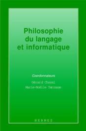 Philosophie du langage et informatique - Couverture - Format classique