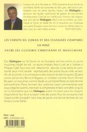Le Coran Dialogues Les Evangiles - 4ème de couverture - Format classique