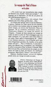 Le Voyage De Vlad A Frisco Ou La Pluie - 4ème de couverture - Format classique