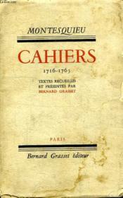 Cahiers 1716-1765. - Couverture - Format classique