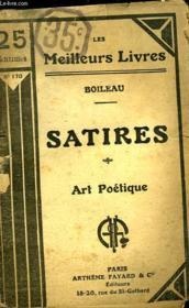 Satires - Art Poetique - Couverture - Format classique