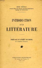 Introduction A La Litterature - Couverture - Format classique
