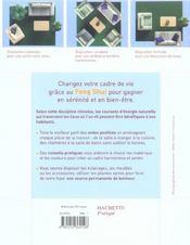 Votre maison sous bonne influence grace au feng shui - 4ème de couverture - Format classique