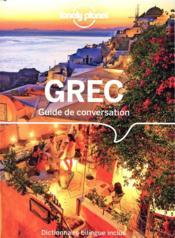GUIDE DE CONVERSATION ; grec (7e édition) - Couverture - Format classique