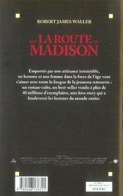 Sur la route de madison - 4ème de couverture - Format classique