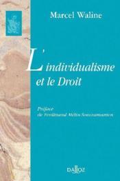 L'individualisme et le droit - Couverture - Format classique