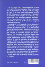 Atlantide (l') - 4ème de couverture - Format classique