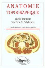 Anatomie Topographique Parois Du Tronc Visceres De L'Abdomen - Intérieur - Format classique