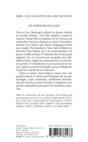 Les Porteurs De Glace - 4ème de couverture - Format classique