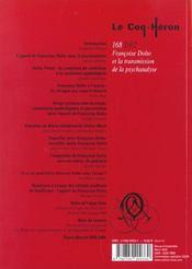 Revue le coq héron N.168 - 4ème de couverture - Format classique