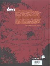 Aven - tome 02 - l'affut - 4ème de couverture - Format classique