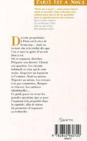 Devenir Proprietaire A Paris - 4ème de couverture - Format classique