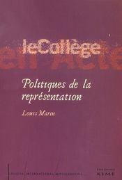Politiques De La Representation - Intérieur - Format classique