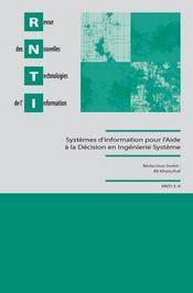 Systemes d'information pour l'aide a la decision en ingenierie systeme - Intérieur - Format classique