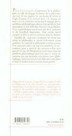 Essais 3/Wittgenstein Et Les Sortileges Du Langage - 4ème de couverture - Format classique