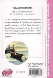 Les six compagnons t.6 ; les six compagnons et la bouteille à la mer - 4ème de couverture - Format classique