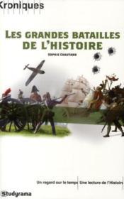 Les grandes batailles de l'histoire - Couverture - Format classique