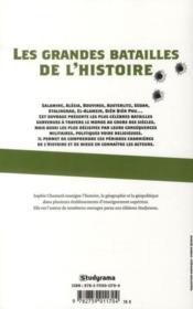 Les grandes batailles de l'histoire - 4ème de couverture - Format classique