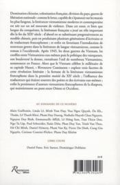 Riveneuve Continents ; Vietnam, Le Destin Du Lotus - 4ème de couverture - Format classique