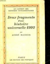 Deux Fragments D'Un Histoire Universelle 1992 - Couverture - Format classique
