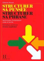 Structurer Sa Pensee Structurer Sa Phrase Francais Bts