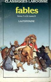 Fables choisies t.2 ; livres 7 à 12 - Couverture - Format classique