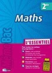 Maths ; 2nde - Couverture - Format classique