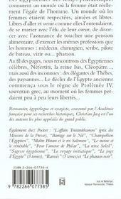 Les Egyptiennes - 4ème de couverture - Format classique