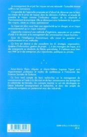 Management De Risques Et Intelligence Economique ; L'Approche Prima - 4ème de couverture - Format classique