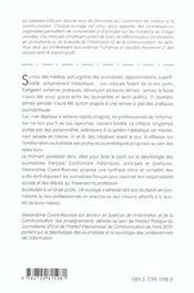 La Deontologie Des Journalistes Principes Et Pratiques - 4ème de couverture - Format classique