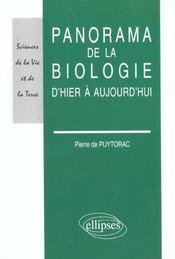 Panorama De La Biologie D'Hier A Aujourd'Hui - Intérieur - Format classique