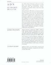 Adn - 4ème de couverture - Format classique